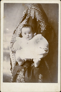 Hidden Mother Under a Shawl - Cabinet Card