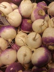 onion(0.0), shallot(0.0), onion genus(0.0), vegetable(1.0), turnip(1.0), produce(1.0), food(1.0),