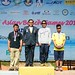 The 3 medallists (overall individual) with Chief organiser GP.Capt. Weerayuth Didyasarin