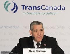 橫加公司(TransCanada)總裁兼執行長Russ Girling。(來源:Teddy Kwok)
