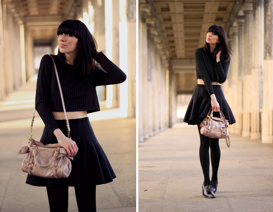 OUtfit H&M Miu Miu Topshop all black Michalsky StyleNite look CATS & DOGS fashion blog from berlin 6