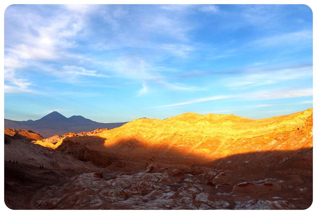 valle de la luna atacama desert at sunset