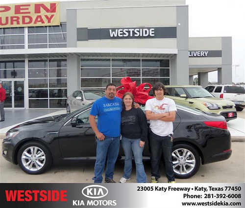 Happy Anniversary to Richard Resendez on your 2013 #Kia #Optima from Elhallal Rizkallah  and everyone at Westside Kia! #Anniversary by Westside KIA