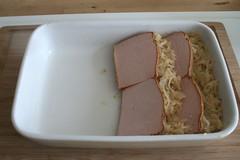 36 - Leberkäse einlegen / Add meat loaf