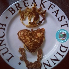Loving my #pancakeart #fail this morning…