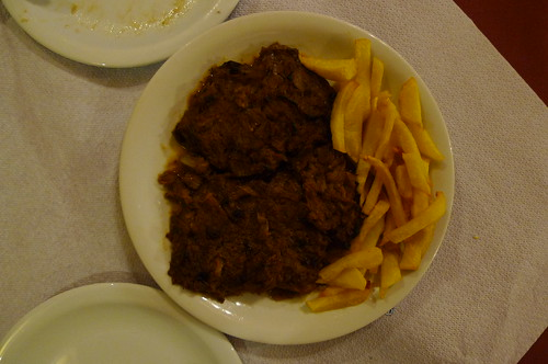 Iman (Eggplant) and Fried Potatoes - Restaurant Karima - Nafplio, Greece