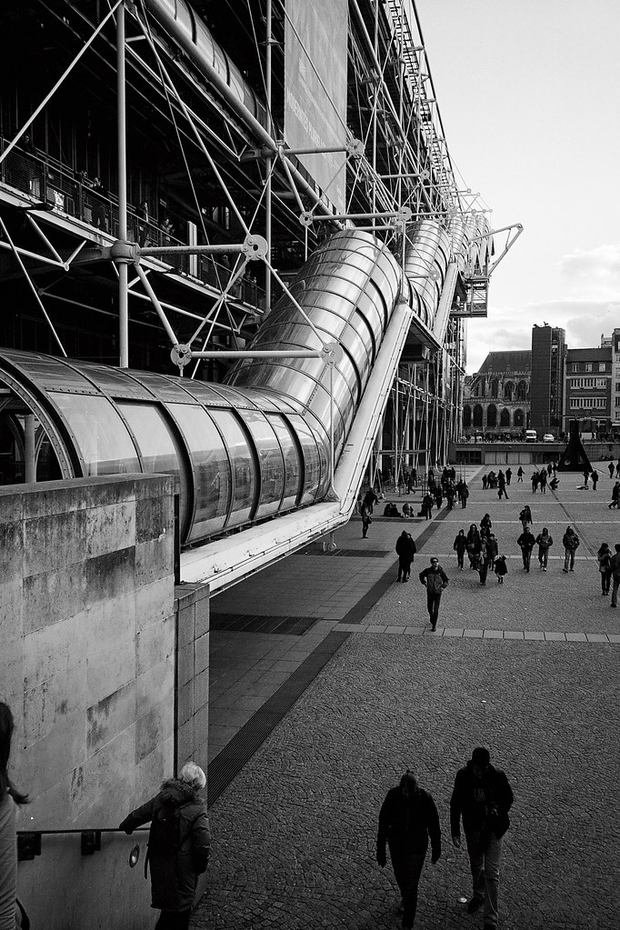 Outside the pompidou