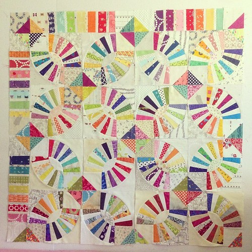 This is what 25% of our group quilt looks like :)