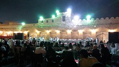 Souq Waqif. preparations for a concert with traditional Arabic music