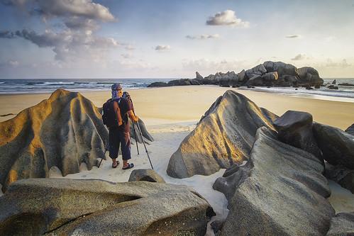 sleeping sunset seascape nature rock sunrise giant landscape terengganu kemaman hishammarmincom hishammarmin pentaxk5iis k5iis smcpda1224mmf4edalif