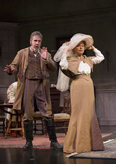 Don Sparks as Shamarayev and Kate Burton as Arkadina in in the Huntington Theatre Company production Anton Chekhov's passionate classic THE SEAGULL directed by Maria Aitken, playing March 7 - April 6, 2014 at the Avenue of the Arts / BU Theatre. Photo: T. Charles Erickson