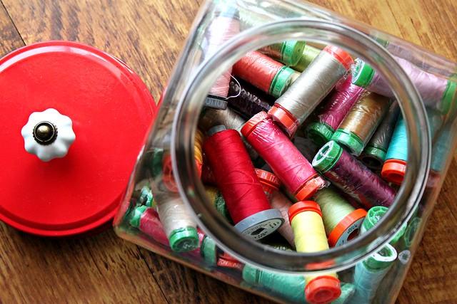 Aurifil jar -- better than candy!