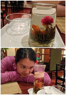 With my blooming tea
