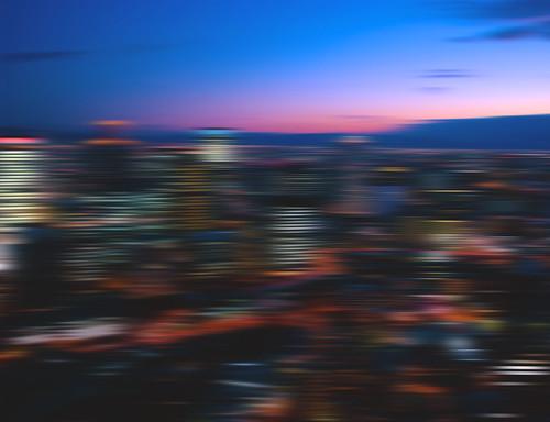 trip travel sunset sky abstract japan skyline clouds skyscraper landscape lights reflex nikon colorful cityscape fav50 background jp osaka dslr umeda skybuilding appleaperture fav10 fav25 fav100 pixelmator d3100 nikond3100 flickr:explore=true
