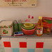 Rement red kitchen shelf miniatures by Big Red Angel