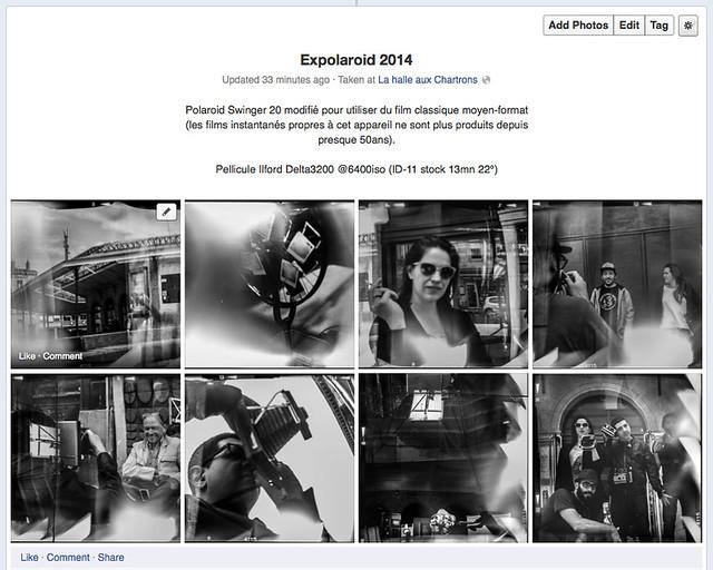 Expolaroid Bordeaux 2014 - Polaroid Swinger 20 set