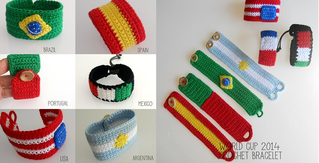 worldcup crochet bracelet