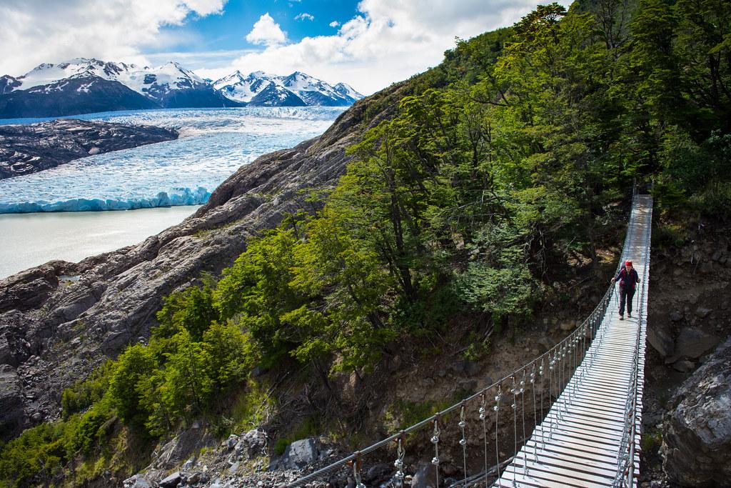Grey suspension bridge...an impressive infrastructure!