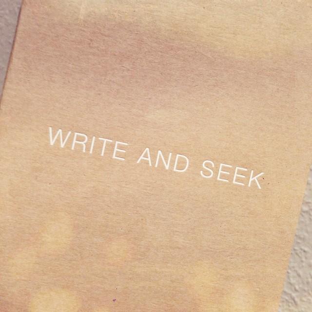 Write & Seek Notebook  I www.StylebyCharlotte.com