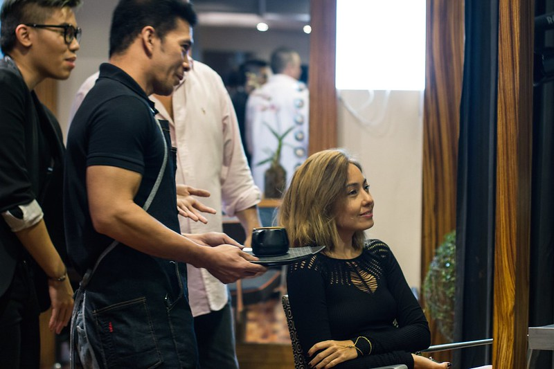 Hindy Tantoco at Aveda salon