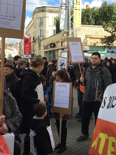 Marche des auteurs à Angoulême