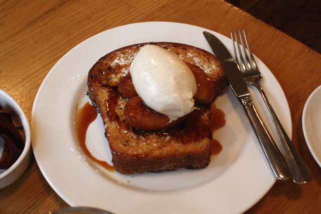 Brioche french toast at Tom's Kitchen, Chelsea