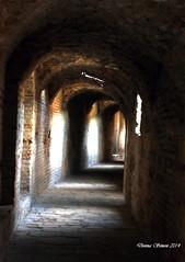 Santiponce - Natually Lit Hallway around amphitheater