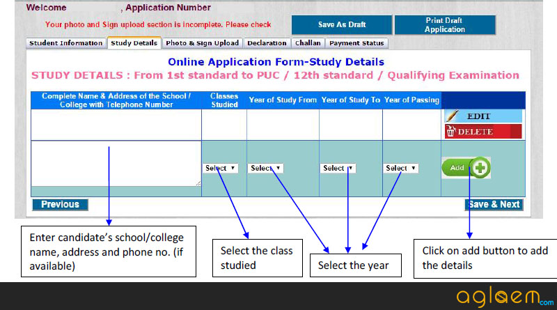 CET Karnataka Application Form 2016