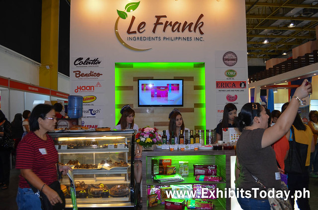 Front of Le Frank Ingredients Coffe Show Inspired Exhibit Booth