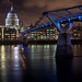 London Millenium Bridge Tate Modern Museum Saint Paul's Cathedral Tamise River Night Explore Image Picture Long pose by Benjamin Gillet