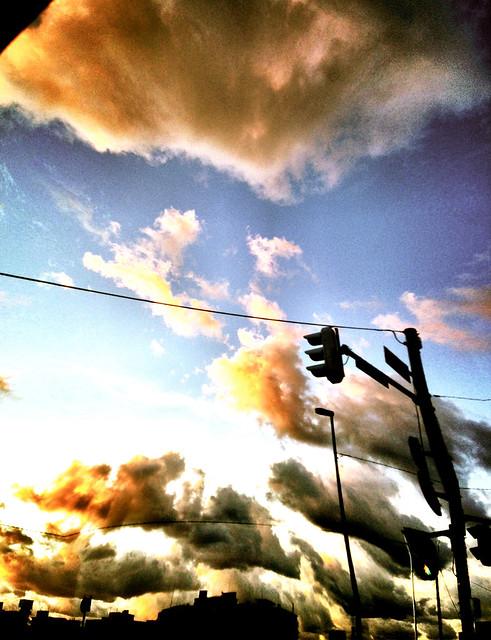 夕焼け雲 歪み