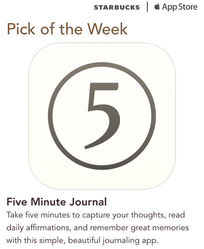 Starbucks iTunes Pick of the Week - Five Minute Journal
