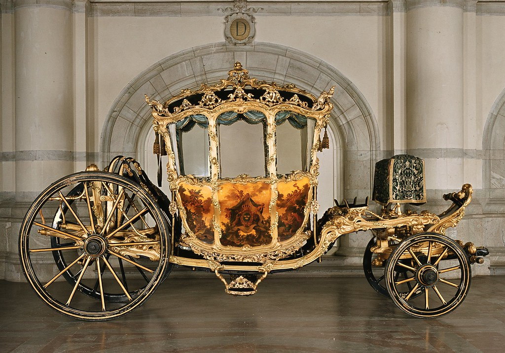 Crown Prince Carriage of King Gustav III of Sweden 1763 to 1768. Credit Livrustkammaren (The Royal Armoury, Sweden)