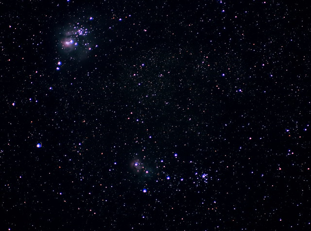 The Lagoon and Trifid nebulae