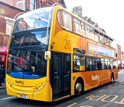SN60 EDC 'Reading Buses' 204 Alexander Dennis Ltd. Enviro 400H on 'Dennis Basford's railsroadsrunways.blogspot.co.uk'