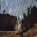 Star Trails Over Waterfall by Jeffrey Sullivan