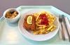 Pork cordon bleu, french fries & bulgur salad / Cordon bleu vom Schwein, Pommes Frites & Bulgur-Salat