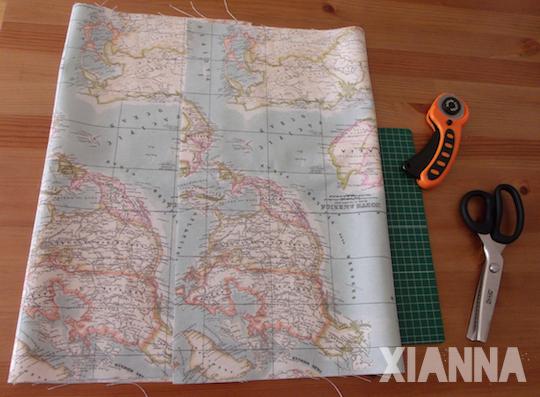 Tela mapa cortada