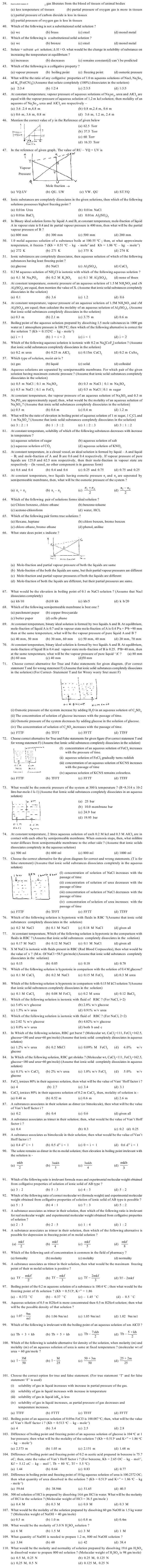 JEE and AIPMT Question Bank Chemistry - Solutions