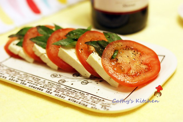 蕃茄涼豆腐佐羅勒 Asian style Tomato and Mozzarella Bites 3