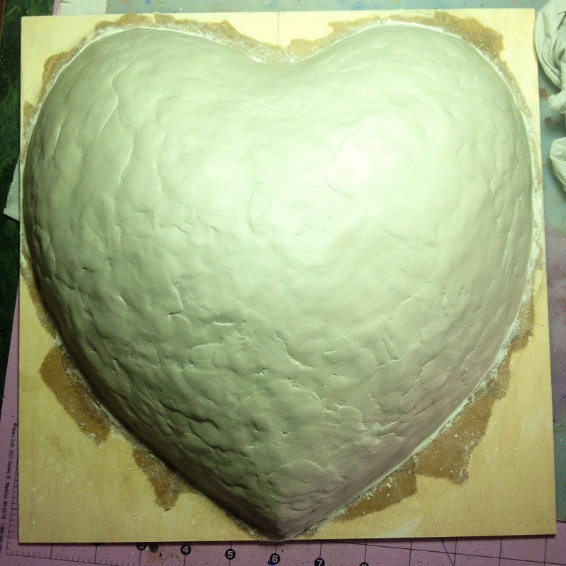 first layer of air dry clay