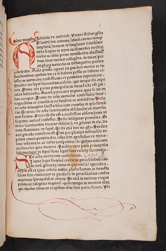 Rubrication in Aurbach, Johannes: Summa de sacramentis