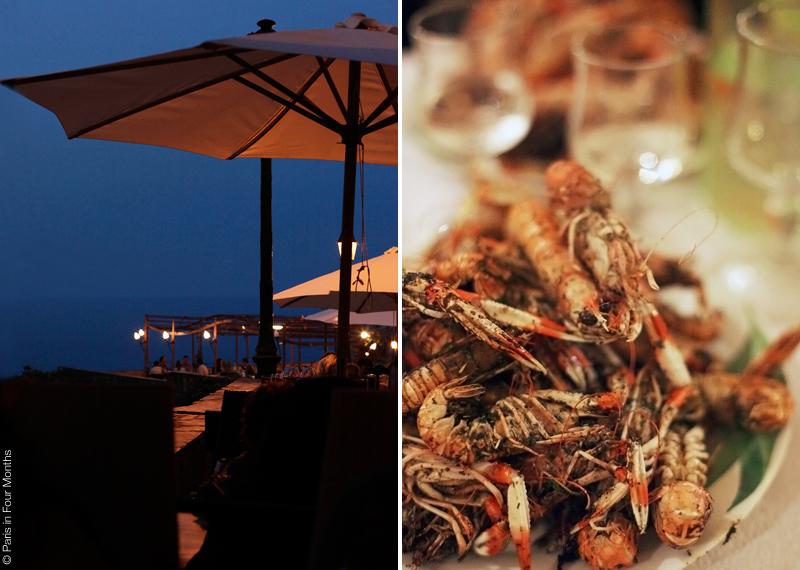 Langoustines at the restaurant La Petite Marie in Bastia