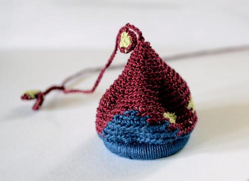Pumpkin -Crochet necklace