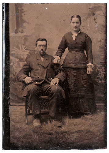 30a_RuthC_Album : Tintype of Henry & Mary Hobby