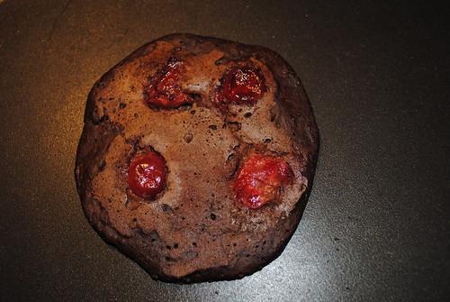 chocolate cherry almond pancakes
