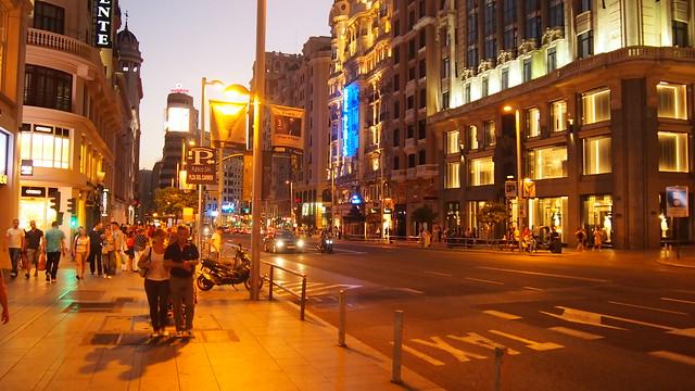 Grand Via Street Madrid