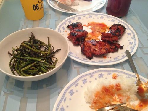 A little Korean at home.