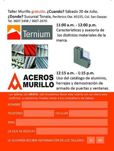 Taller Murillo en Sucursal Tonalá Ternium y Aluminio by Aceros Murillo