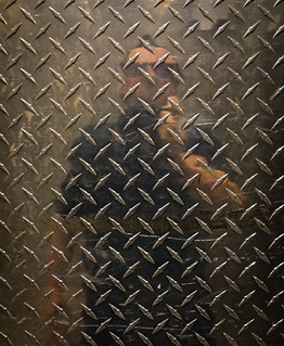Self Portrait in Freight Elevator Wall